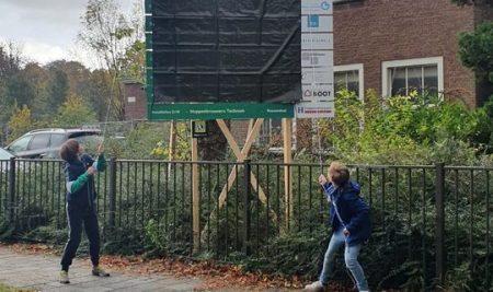 Vandaag werd het bouwbord aan de Vincentiusstraat onthuld.